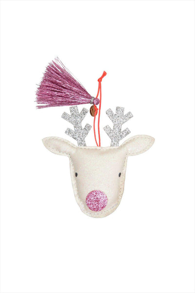 Reindeer Glitter Fabric Ornament Tree Decorations