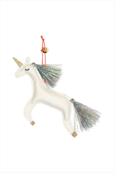 Unicorn Glitter Fabric Ornament Tree Decoration