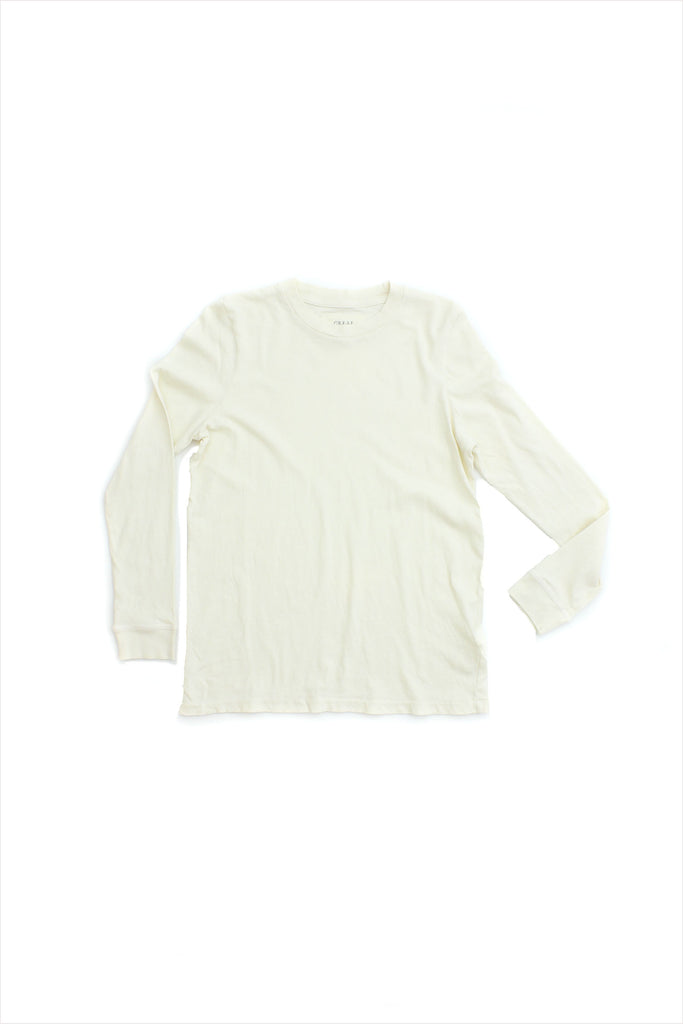 The Great Long Sleeve Slim Tee Washed White