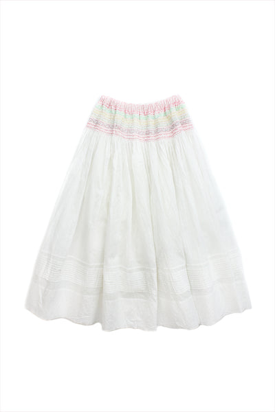 Injiri Muslin Skirt 32 White
