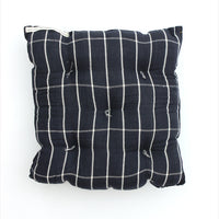 Square Cushion Black/White Large Check