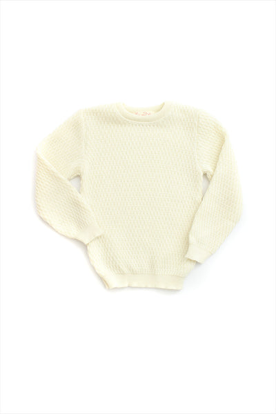 Wool Silk Crewneck Sweater Child