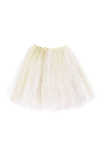 Tutu Tulle Long Ecru And Gold