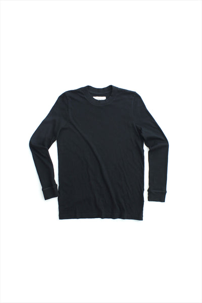 The Great Long Sleeve Slim Tee Almost Black