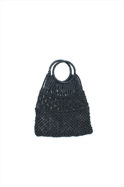 Jute Macrame Bag With Leaf Design