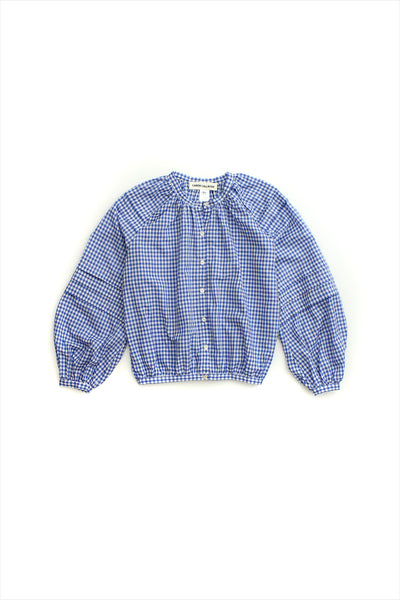 Caron Callahan Leo Top Blue Gingham