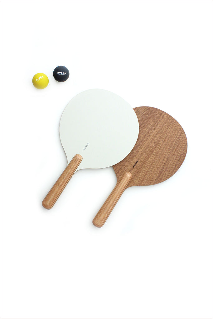 Avora Paddle And Ball Set White Wood