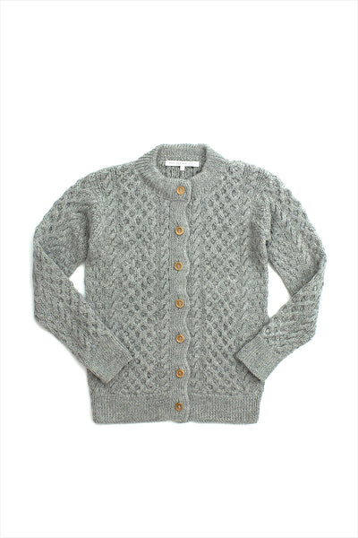 F&H Irish Cardigan Light Grey