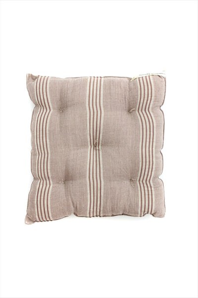 Square Cushion Off White/Brown