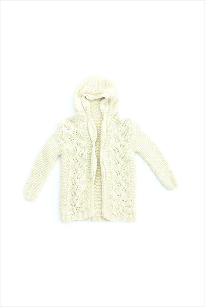 Sample Sale Knit Crochet Hoodie 6year Oatmeal