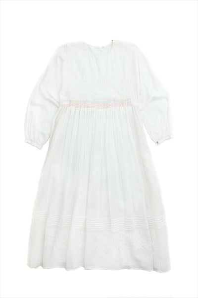 Injiri Muslin Dress 18 White