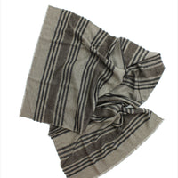 Namche Stripes Stole Cappuccino Grey Black Brown