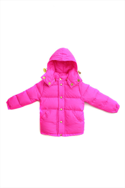 Children's Down Parka Neon Pink