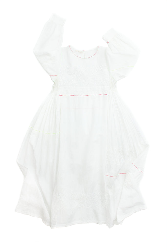 Injiri Muslin Dress 23 White