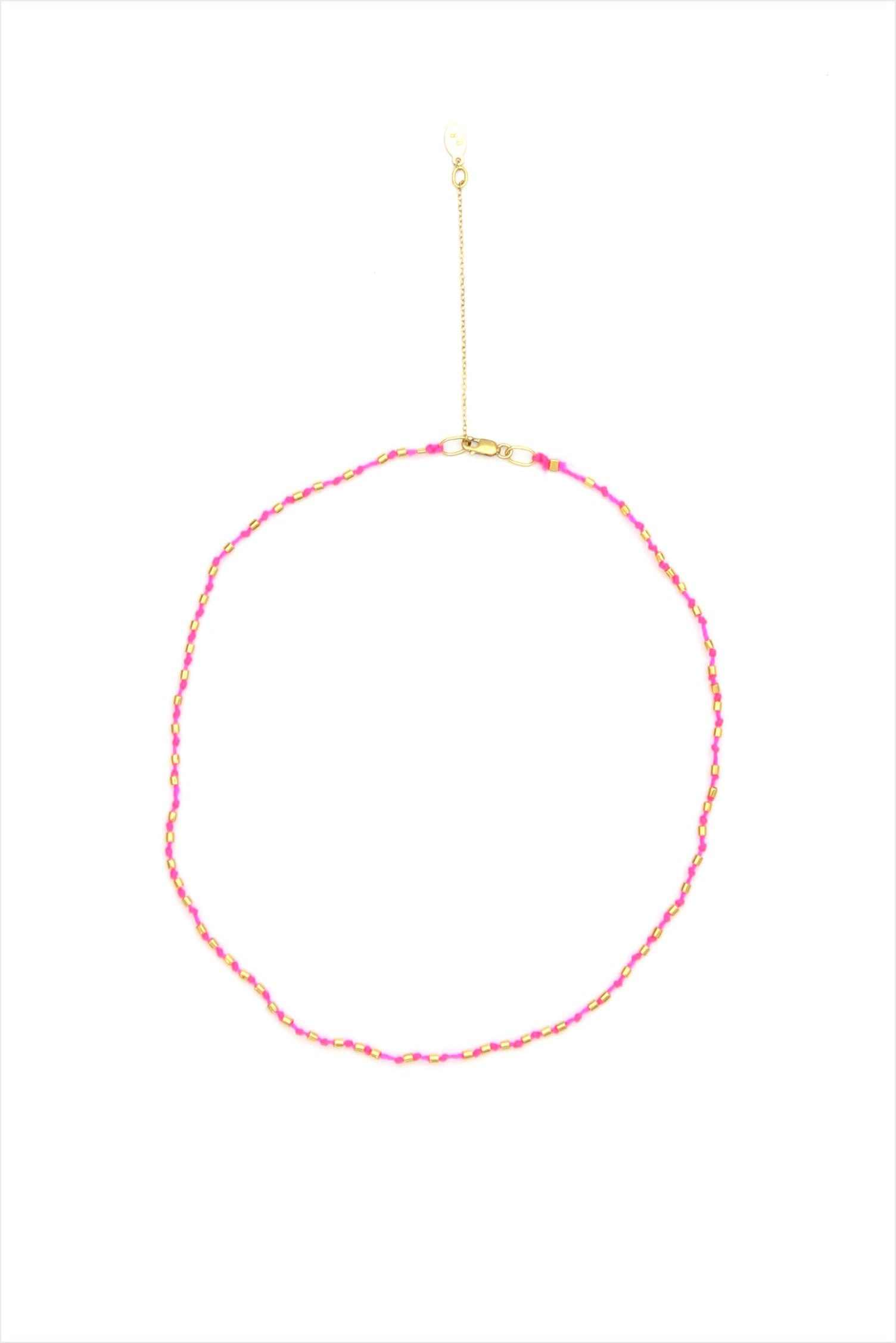 Pink Pop and Gold Necklace