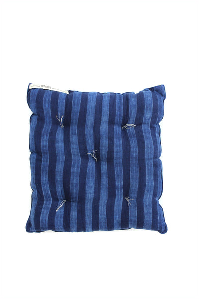 Square Cushion Dark Indigo Tie Dye