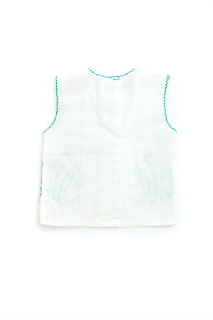 Embroidered Front Baby Top