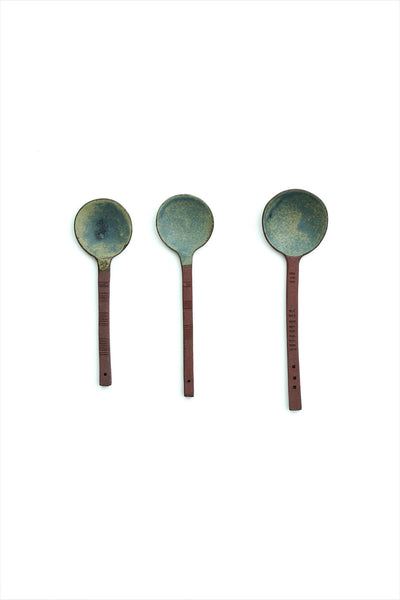 Patricia Vieljeux Small Ceramic Spoon Green
