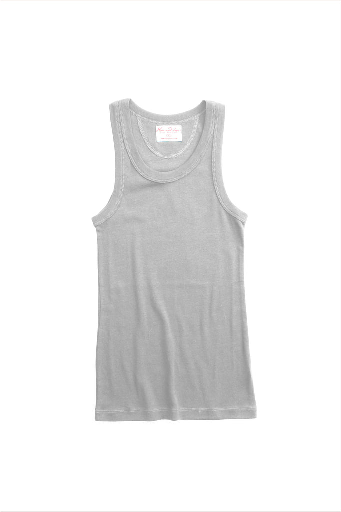 F&H Women's Tank Undershirt Pale Grey
