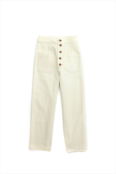 Caron Callahan Emily Pant Cream Canvas