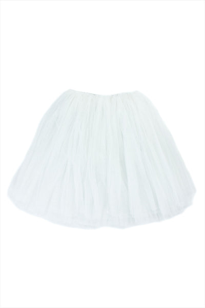 Tutu Tulle Long White And Silver