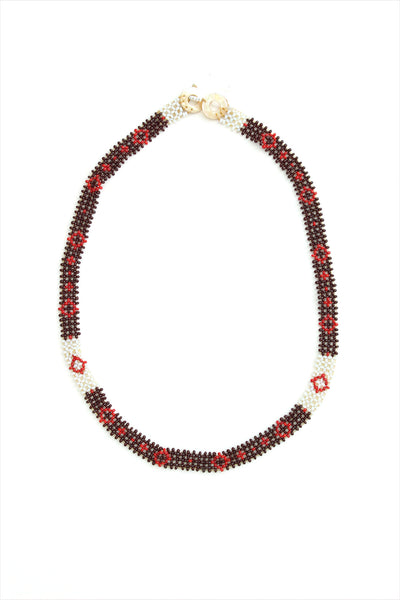 Curtis Steiner Red Antique Beads Necklace