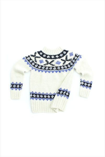 Sample Sale Sweater 4year Cream Blue Black
