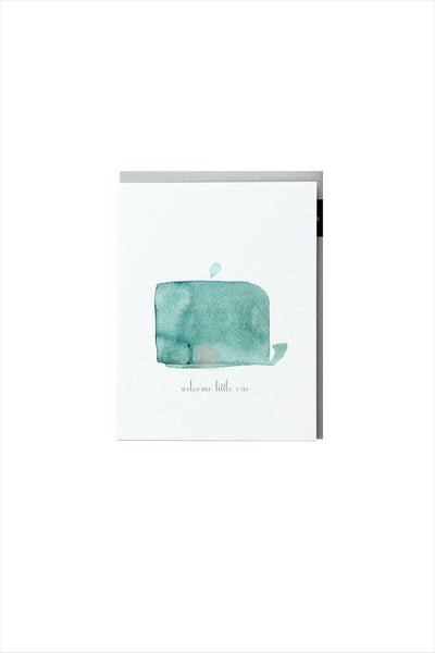 Welcome Little Whale Card