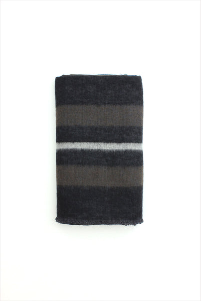 Dolpo Throw Black Natural Brown White