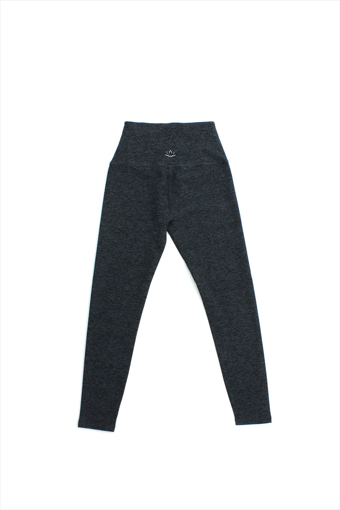 Highwaisted Midi Legging Black Charcoal