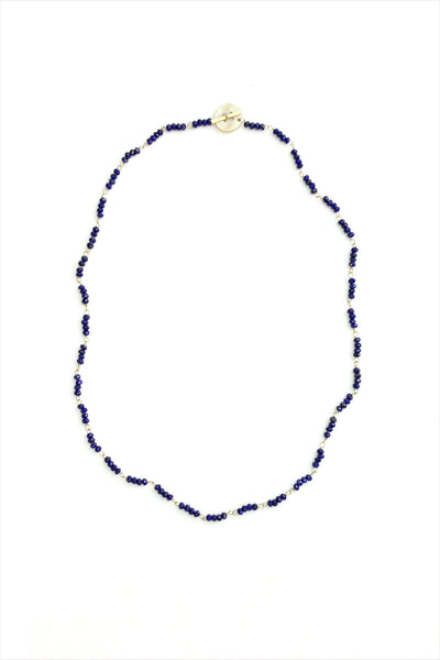 Curtis Steiner Natural Lapis Lazuli And 18k Gold Necklace