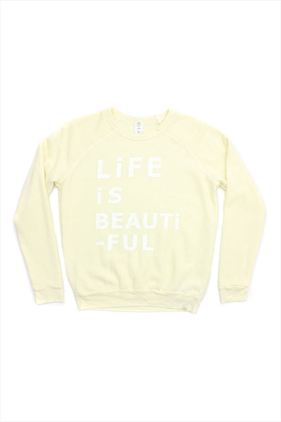 Women's Life Is Beautiful Fleece Raglan Pullover