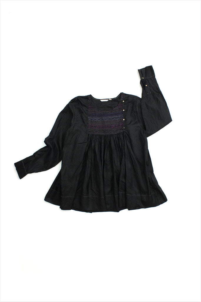 Injiri Silk Rang 42 Blouse Black