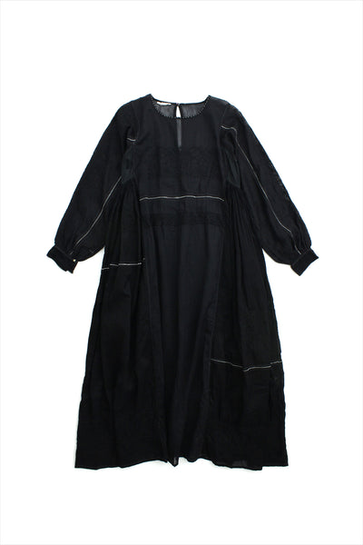 Injiri Muslin Dress 23 Black
