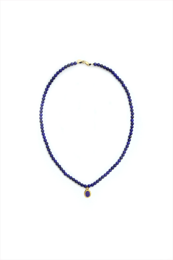 Indigo Bead Necklace