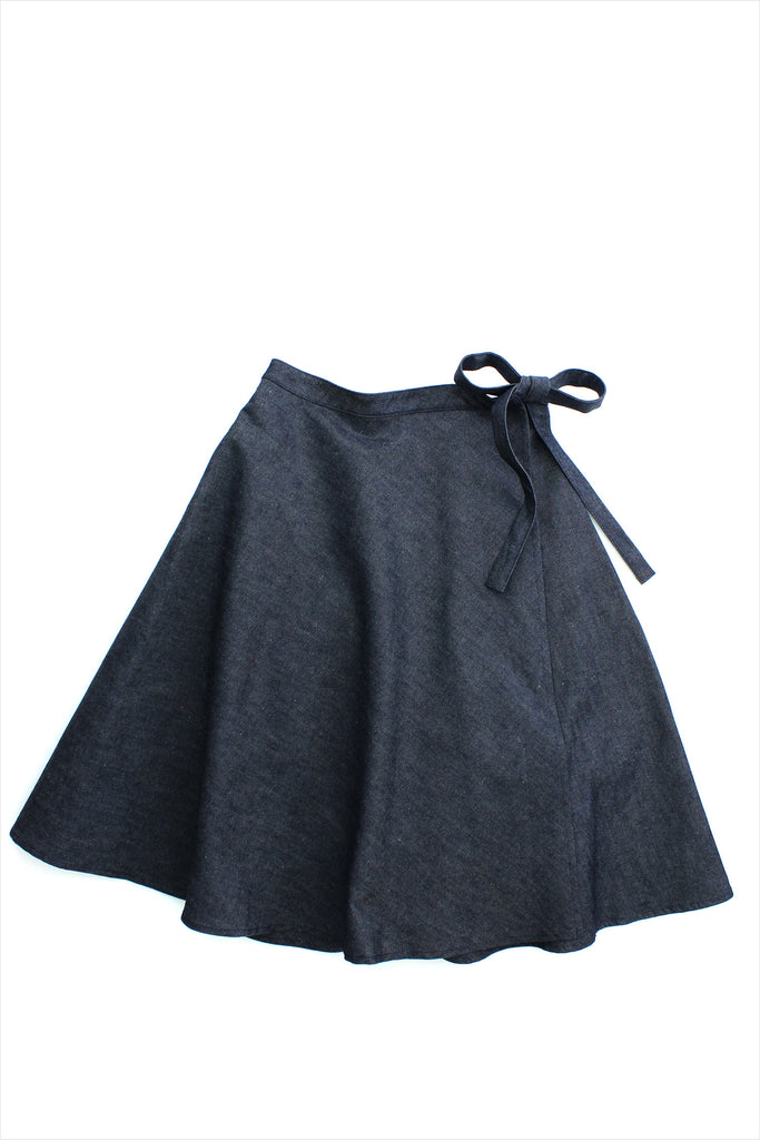 Sample Sale Denim Wrap Skirt 12year