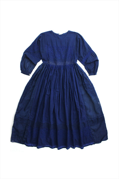 Injiri Muslin Dress 18 Indigo