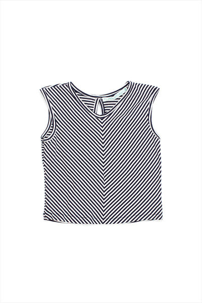 Sample Sale Striped Tee 3year Navy White