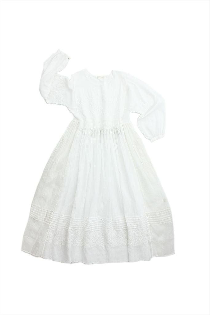Injiri Muslin Dress 18 All White