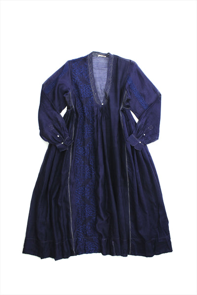 Injiri Muslin Dress 25 Indigo