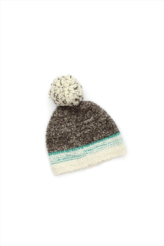 Sample Sale Children's Knit Hat Grey Green