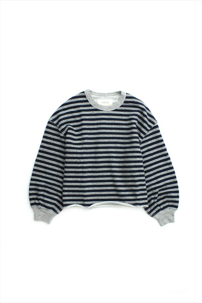 The Great Cut Off Sweatshirt Varsity Gray Stripe