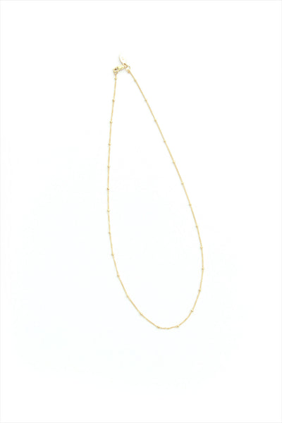 Beaded Gold Chain Necklace Short