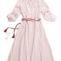 The Great Derby Dress Sunset Stripe