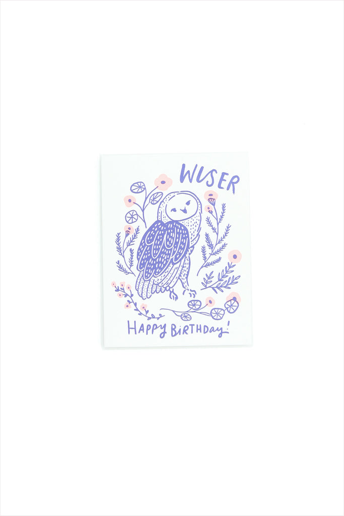 Wise Old Owl Birthday Card