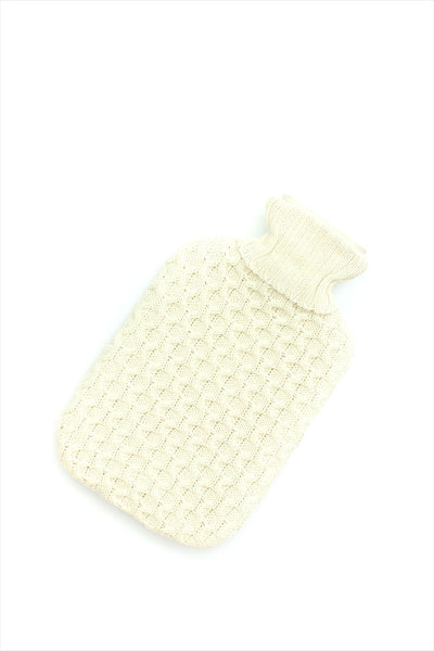 Honeycomb Knitted Hot Water Bottle