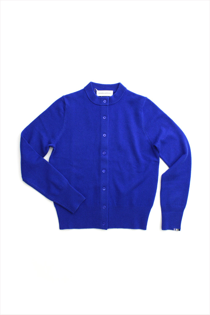 Extreme Cashmere n°99 Little Cardigan Primary Blue