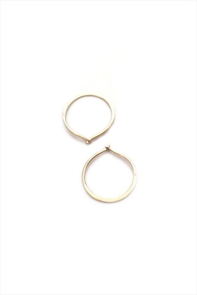 Mini Hammered Hoops