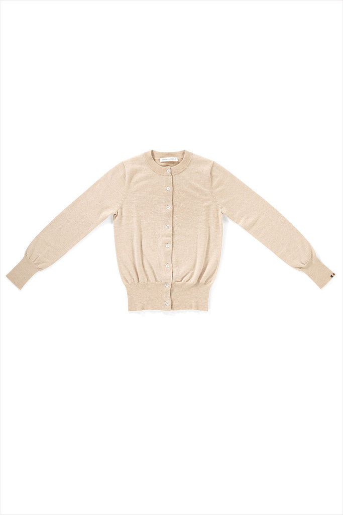 Extreme Cashmere n°94 Little Cardigan Beige