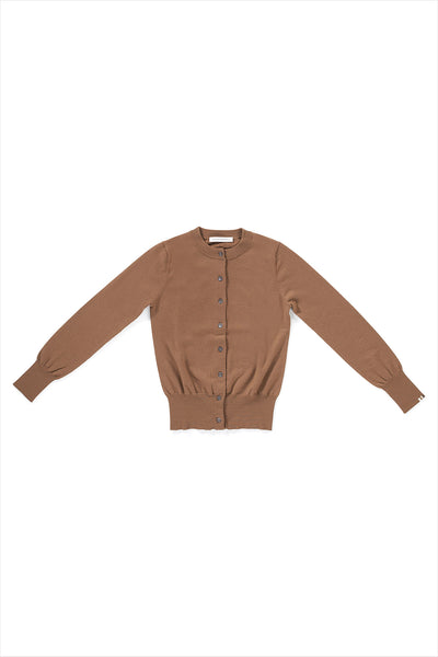 Extreme Cashmere n°94 Little Cardigan Tan